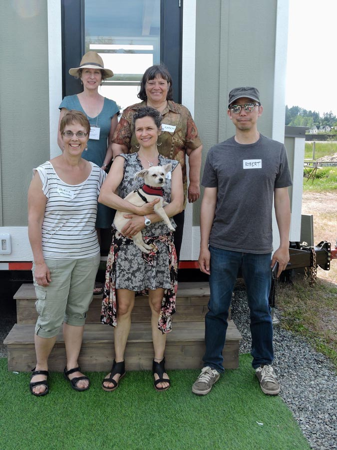Volunteers at the Tiny House Showcase 2019