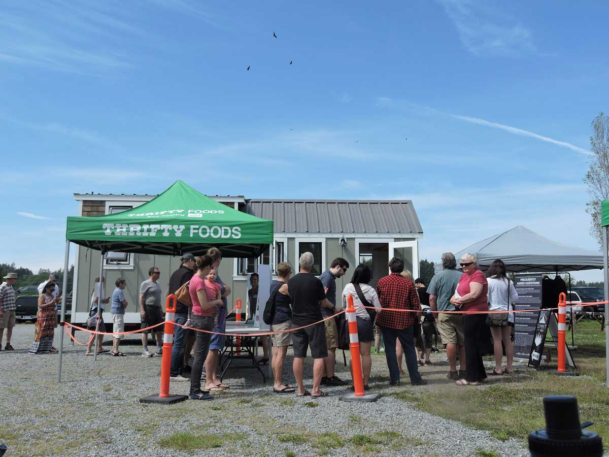 Attendees at the Tiny House Showcase 2019